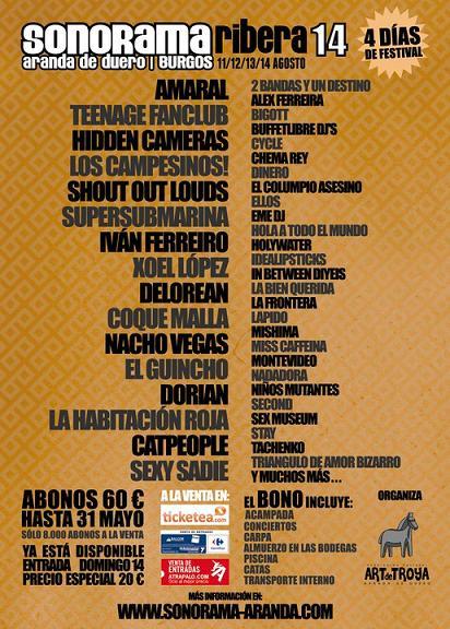 Cartel Sonorama 2011
