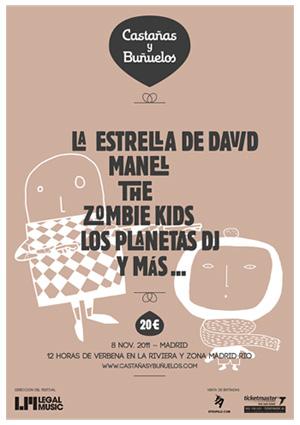 Cartel Castañas y Buñuelos 2011
