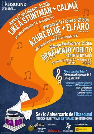 Cartel Festival El Subterraneo 2012