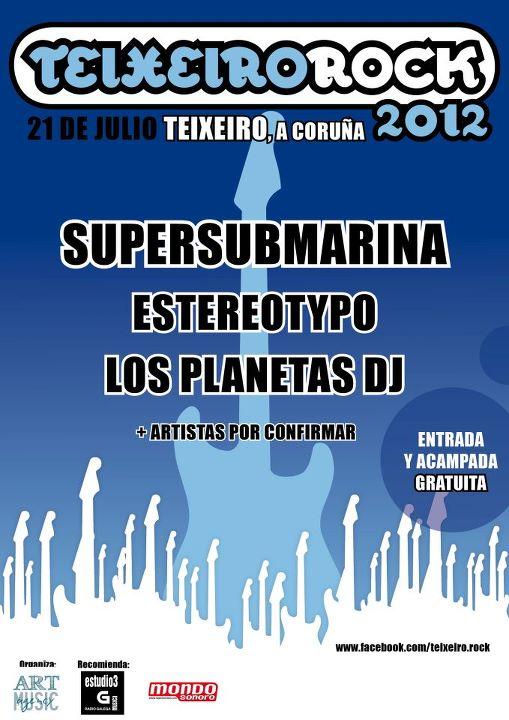 Teixeiro Rock 2012 - Cartel