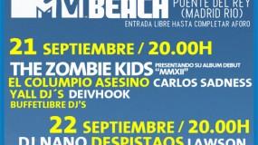 Horarios MTV Madrid Beach 2012