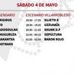 vinarock 2013 horarios Sábado