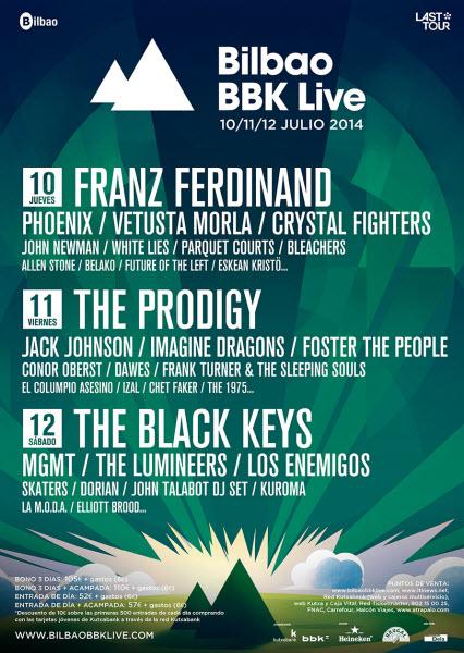 BBK Live 2014 Confirmaciones (2ª Parte)