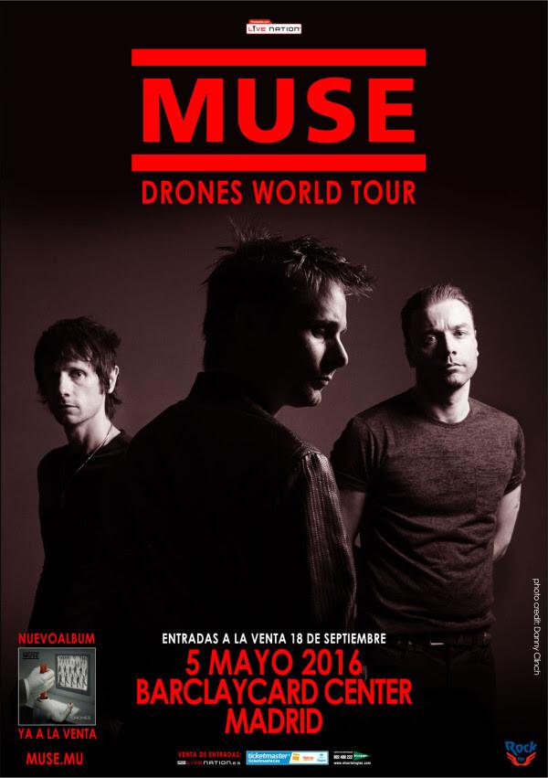 Entradas y concierto de muse madrid 2016 comprar entradas for Conciertos madrid hoy