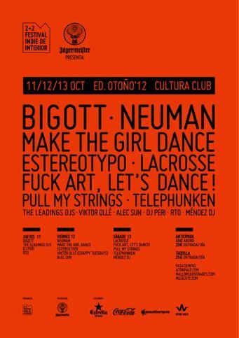 Cartel 2+2 Festival Indie de Interior 2012 - Otoño