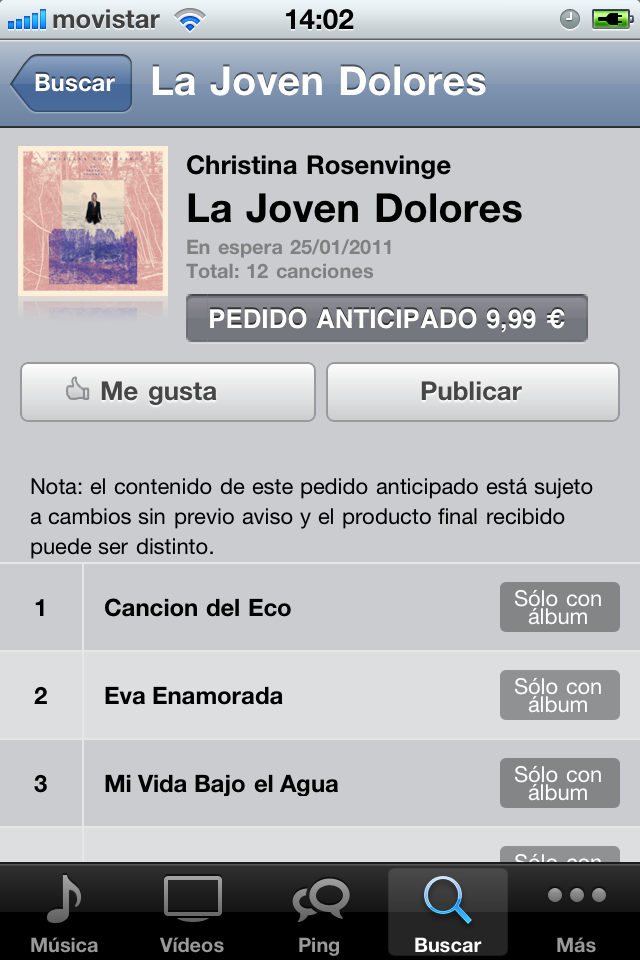 La Joven Dolores - Descarga digital iTunes