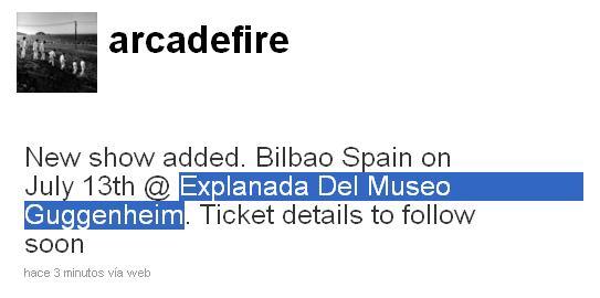 Arcade Fire - Bilbao