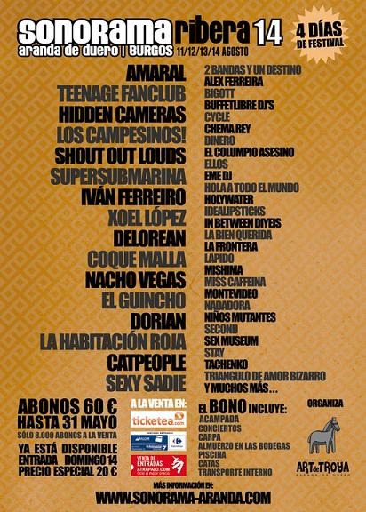 Cartel Sonorama 2011