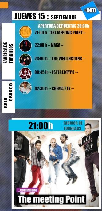 Horarios Ebrovision 2011 - Jueves