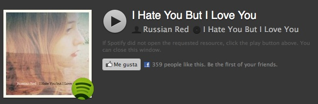 Russian Red - I Hate You But I Love You - Spotify