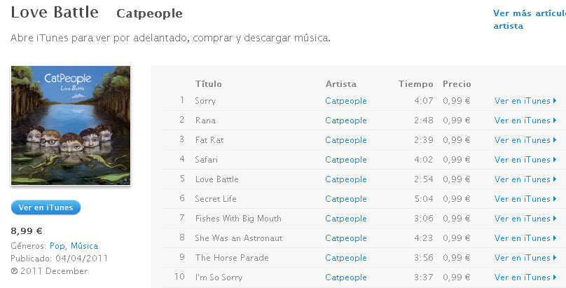 Descarga Love- Battle - Catpeople - iTunes