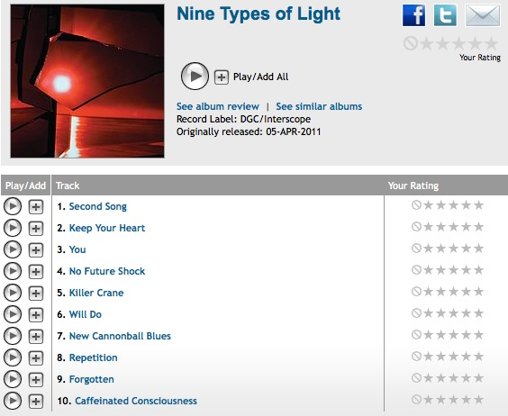 Tv On the radio - Nine types of light streaming