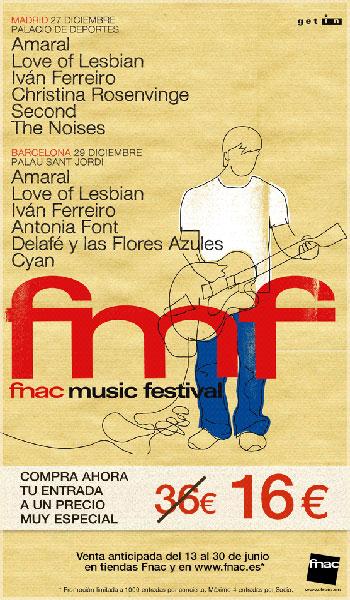 Cartel Fnac Music Festival 2011