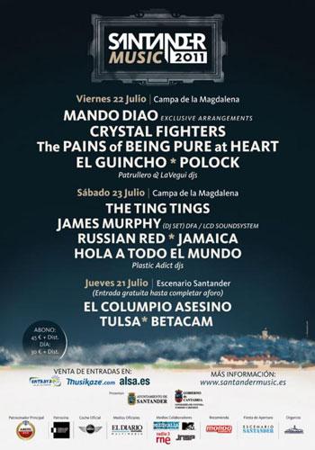 Cartel Santander Music Festival 2011