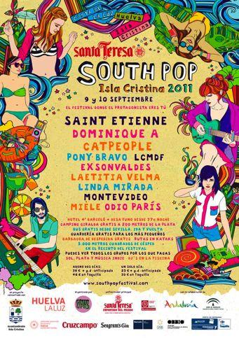Cartel South Pop Isla Cristina 2011