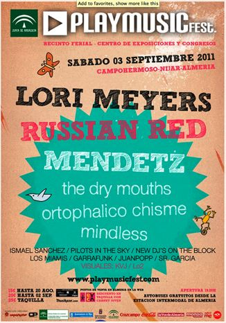 Cartel de PlayMusic Fest 2011