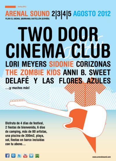 Arenal Sound 2012 - Cartel