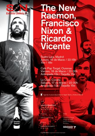 Concierto de The New Raemon, Francisco Nixon y Ricardo Vicente en Madrid