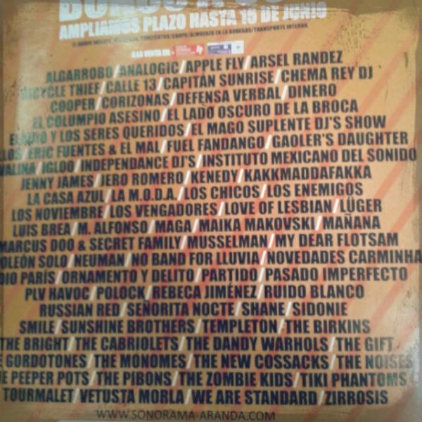 Cartel Sonorama 2012