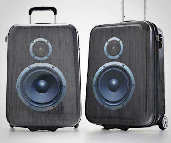 SuitSuit Boombox - Maleta de viaje con forma de altavoces