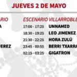 vinarock 2013 horarios Jueves