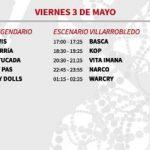 vinarock 2013 horarios Viernes
