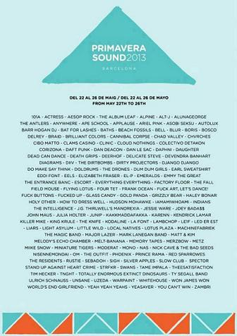 Primavera Sound 2013 Leak