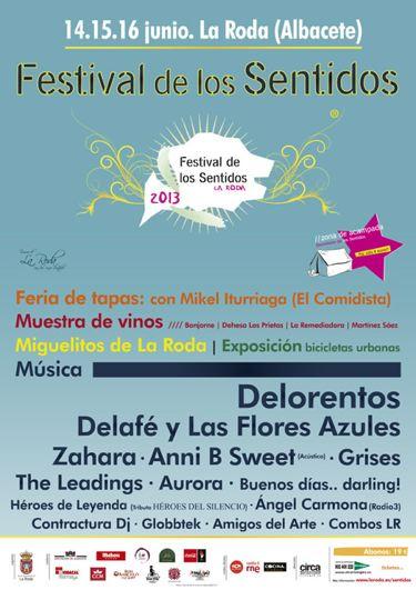 Festival de los Sentidos 2013 - Cartel