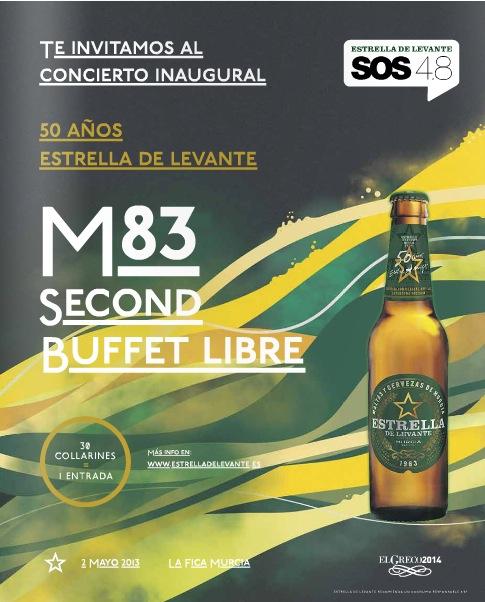 M83 - Entradas - SOS 4.8 2013
