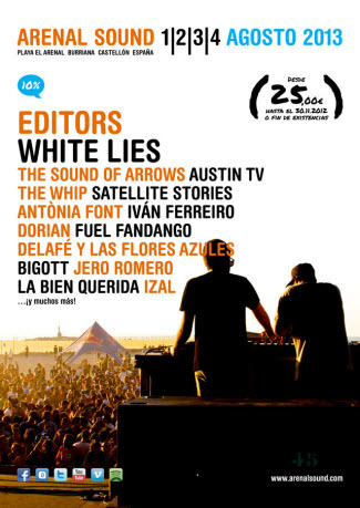 Arenal Sound 2013 - Cartel