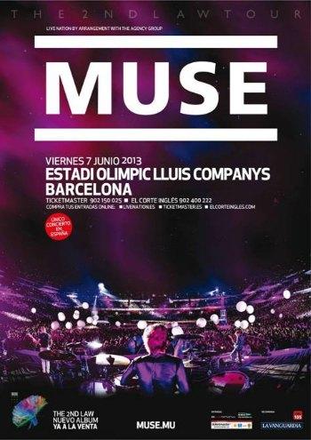 Concierto de Muse Barcelona - Estadio Olímpico Lluis Companys