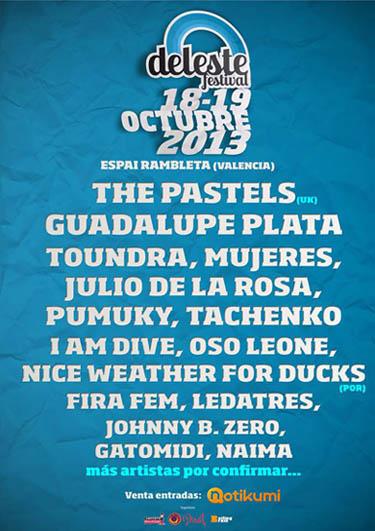 Deleste Festival 2013 - Cartel