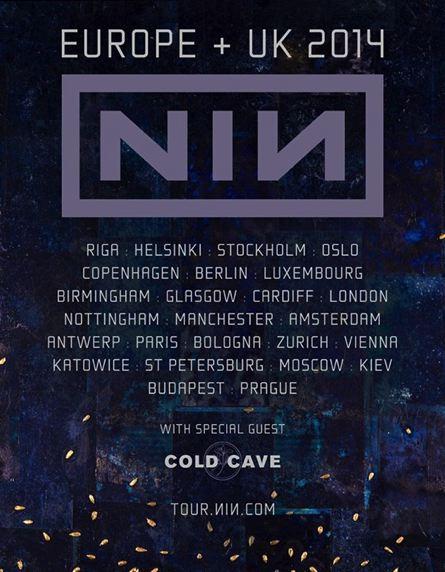 Nine Inch Nails - Tour UK y Europa 2014