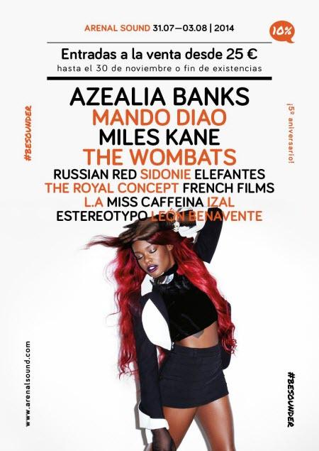 Arenal Sound 2014 - Cartel