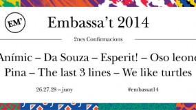 El Embassa't 2014 publica sus horarios