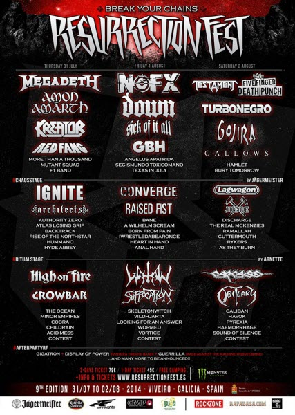 Cartel Resurrection Fest 2014