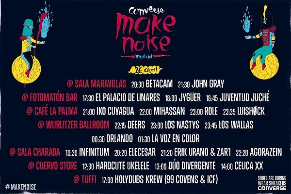 Make Noise Malasaña 2014 - Horarios y Locales