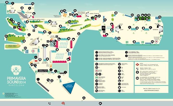 Mapa del Primavera Sound 2014