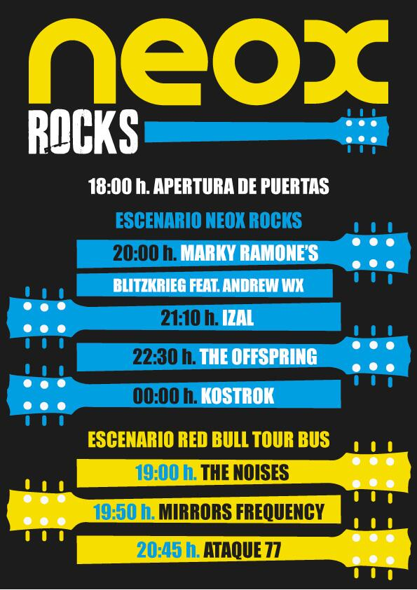 Neox Rocks Festival  - Horarios