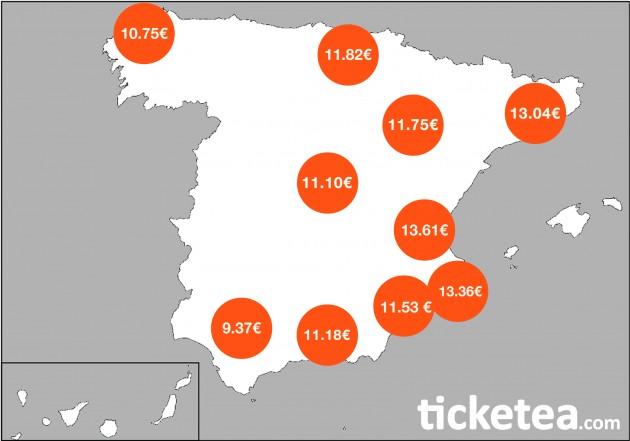 Mapa Conciertos España