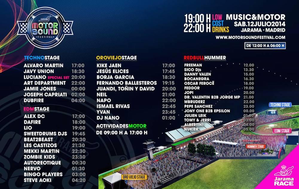 Horarios Motor Sound Festival