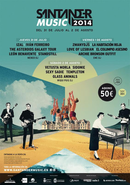 Santander Music Festival 2014 - Cartel