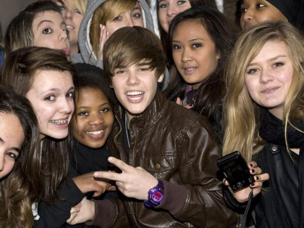 Fans Justin Bieber