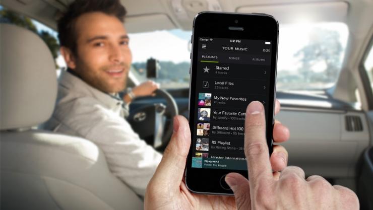 Spotify en los coches Uber