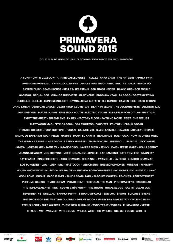 Cartel Primavera Sound 2015 Fake