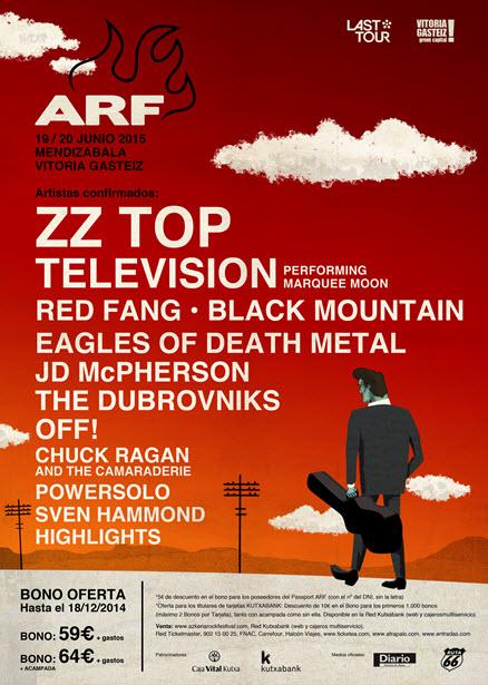 Azkena Rock 2015 - Cartel