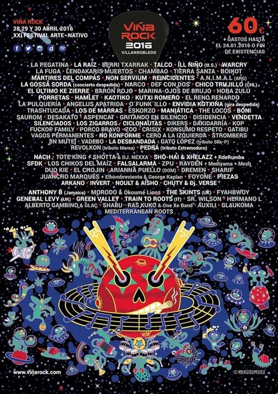 Cartel Viña Rock 2016