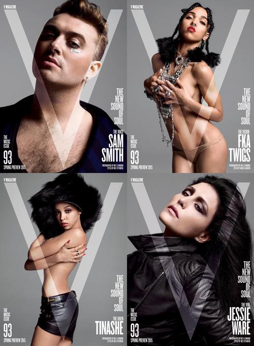 Fka Twigs Semi Desnuda En La Portada De La Revista V Junto Con Sam