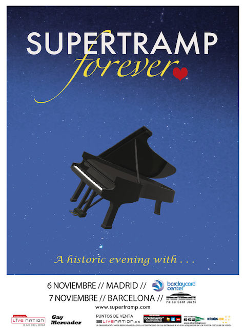Conciertos de Supertamp en Madrid y Barcelona