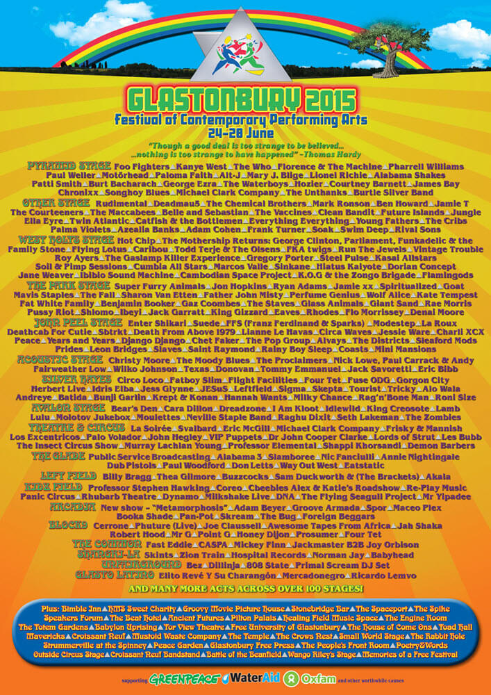 Cartel Glastonbury 2015